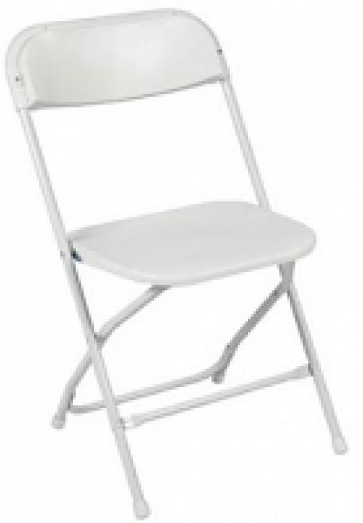 Chairs-White Samsonite, Folding